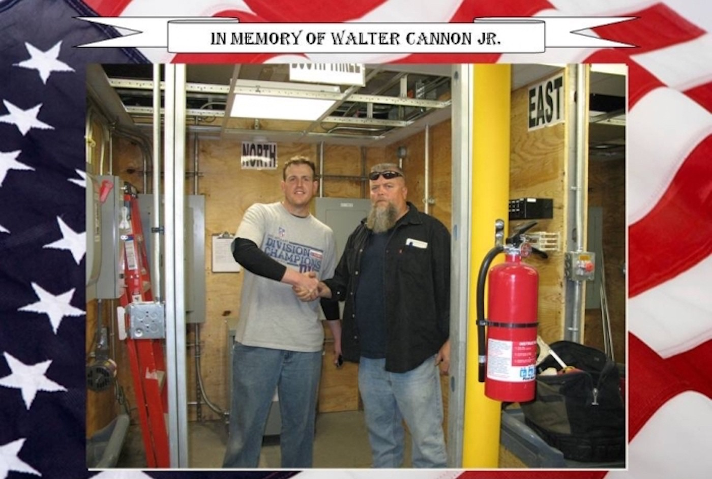 Pictured (right to left) is Boot Camp Mentor Walter Cannon Jr. and MIJ Eugene O'Sullivan. Booth #3 is dedicated to the life of Brother Walter Cannon jr. where his name and picture will remain forever. We will never forget.